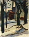 Curt Querner, Winter, 1956, Aquarell, 62,2 x 48,5 cm